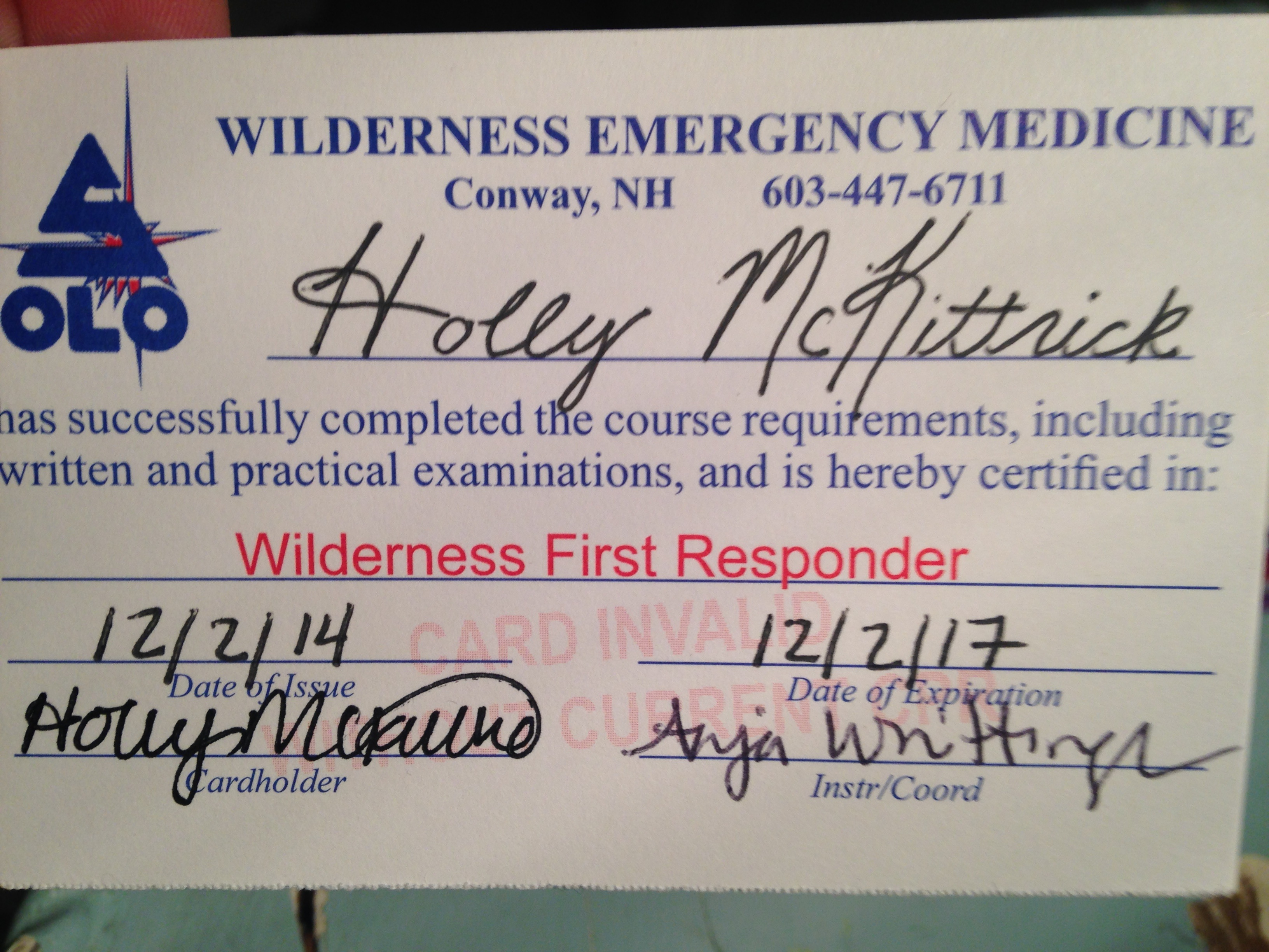 Course Work Certifications Holly B Mckittrick Professional
